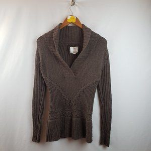 Old Navy Womens Shawl Collar Cable Knit Sweater